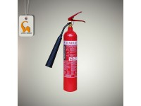 2kg CO2 Flammart Fire Extinguisher For House Kitchen And Server Room SIRIM Approved Pemadam Api LittleThingy